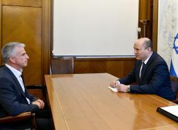 ראש הממשלה נפתלי בנט עם ראש המוסד, דוד ברנע