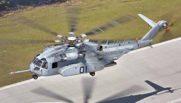 ניסוי ראשון של תדלוק אווירי בלילה של מסוק CH-53 K