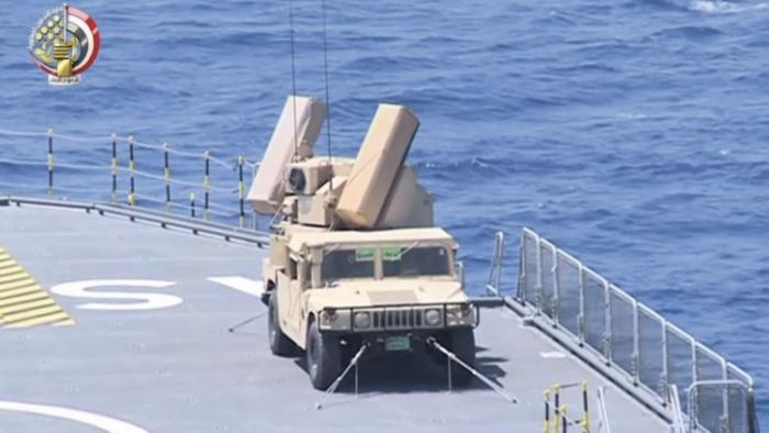 צפו: מערכת AVENGER על כלי השיט מסוג 'מיסטראל' של חיל הים המצרי