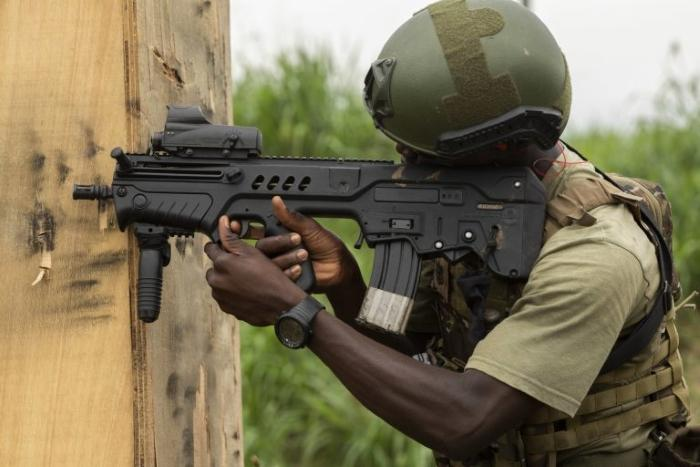 Ivory Coast special forces use Tavor assault rifles