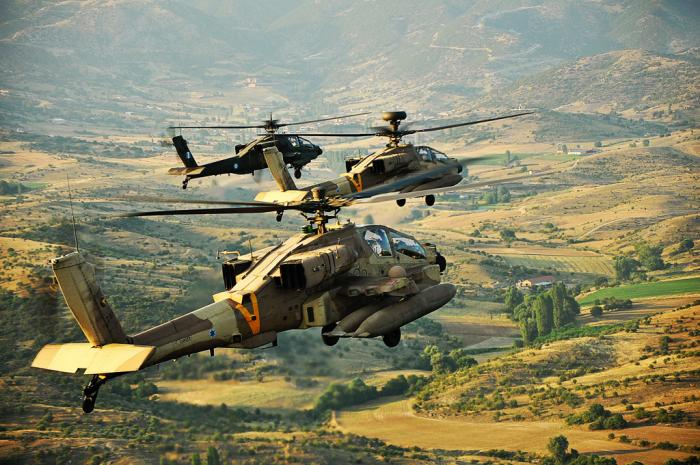 Image result for israeli apache helicopter