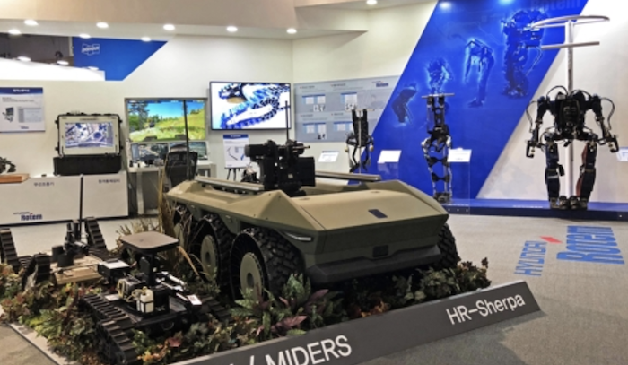 Unmanned systems, weapons against drones exhibited at DX Korea