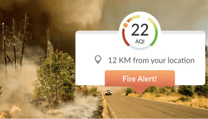 BreezoMeter הישראלית משיקה כלי שיאפשר מעקב וניטור אחר שריפות והתפשטותן