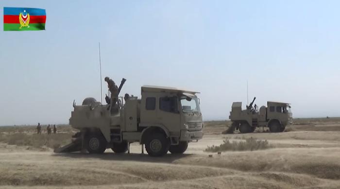 צבא אזרבייג'ן מתאמן בירי מרגמות 'קרדום' תוצרת אלביט