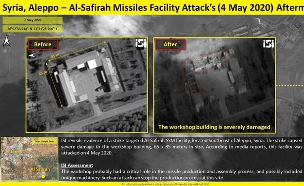 תמונות לווין חושפות פגיעה במתחם אל-ספיר בצפון סוריה