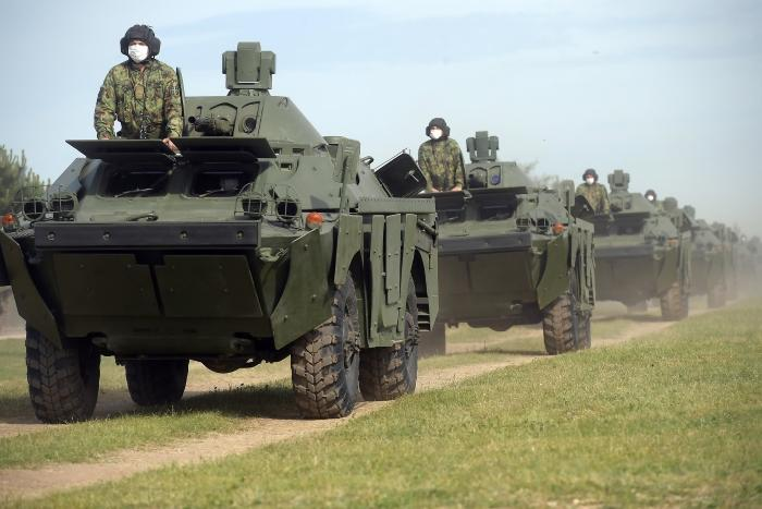 Serbian Army takes delivery of Russian tanks, armored vehicles