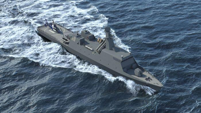 Israel Shipyards unveils Themistocles-class corvette, aiming for Greek Navy contract