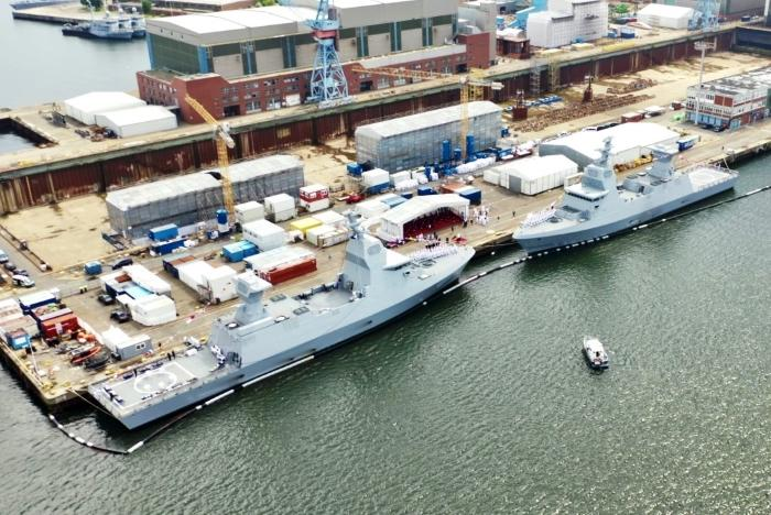 New Sa'ar 6-class corvettes 'INS Atzmaut' and 'INS Nitzachon' handed over to Israeli Navy