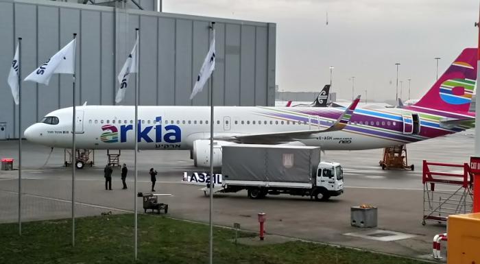 ארקיע קיבלה מטוס נוסעים חדש של איירבוס בעל טווח מוגדל